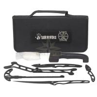 12 Survivors Skin N' Bones Field Dressing Kit, apstrādes nažu komplekts